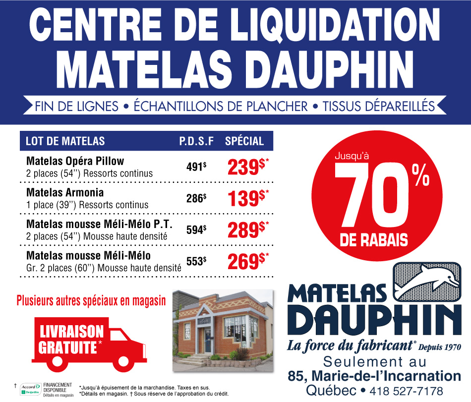 Matelas simmons maroc for Centre liquidation electromenager