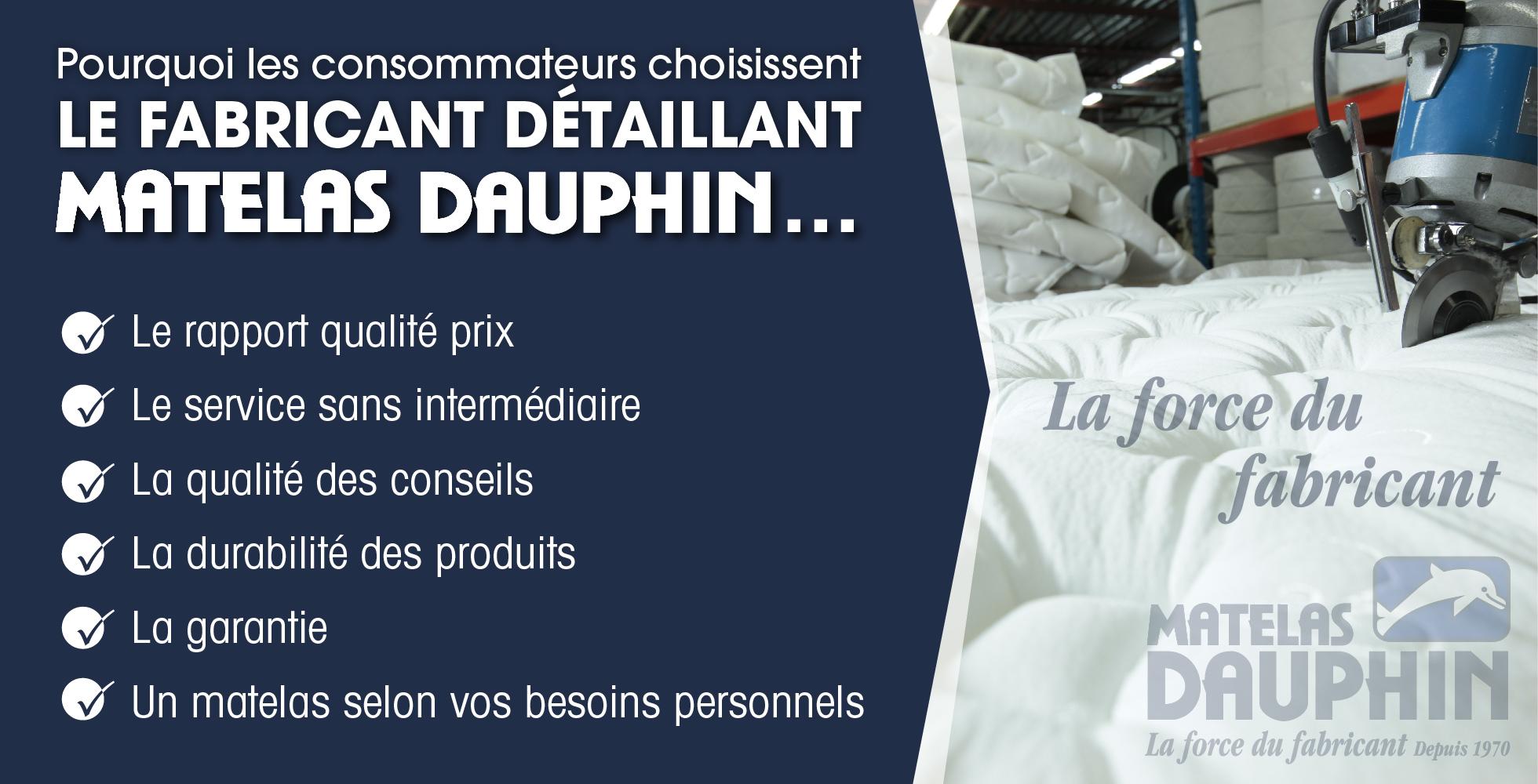 Pourquoi Matelas Dauphin