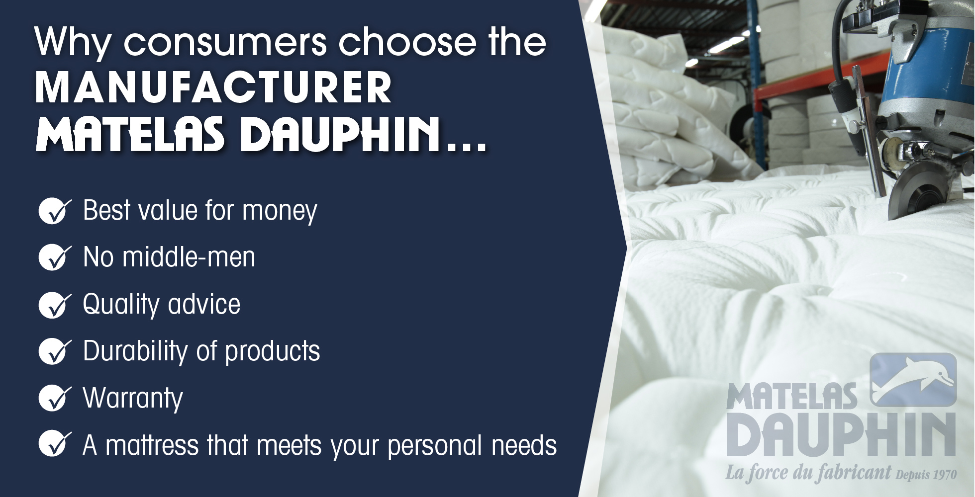 Why customers choose the manufacturer Matelas Dauphin